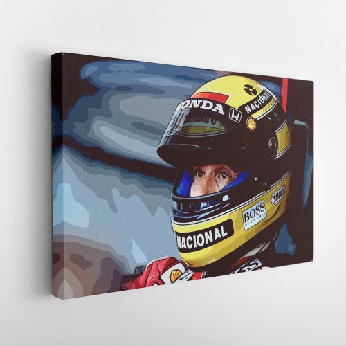 Ayrton Senna Formula One Limited Edition Canvas Wall Art