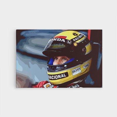 Ayrton Senna Formula One Limited Edition Canvas Wall Art
