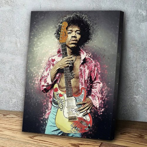 Jimi Hendrix Canvas Wall Art