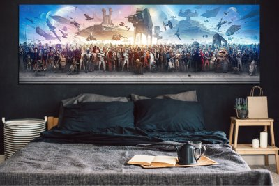 Star Wars Panorama Colorful Print Canvas Art