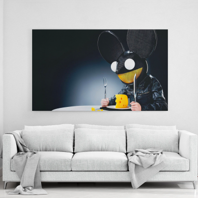 Deadmau5 with Cheese CanvasWall Art