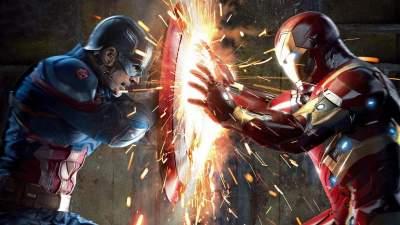 Captain America vs Iron Man Avengers - Canvas Wall Art