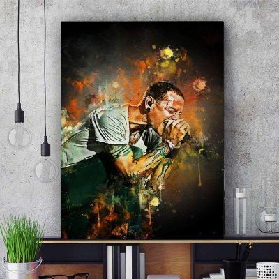 Chester Bennington Canvas Wall Art