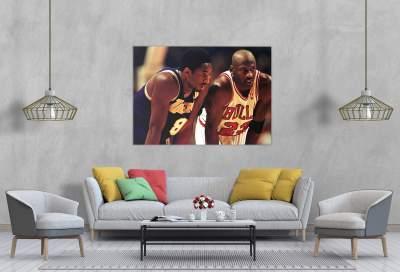 Kobe Bryant and Michael Jordan - NBA Legends - Canvas Wall Art
