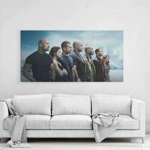 Fast and Furious / Canvas Wall Art