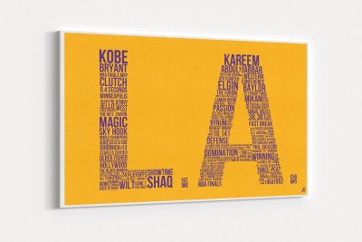 Los Angeles Lakers Legends Hall of Fame / Canvas Wall Art