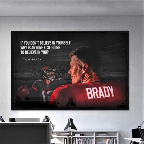 "Tom Brady ""GOAT""  Canvas Wall Art"
