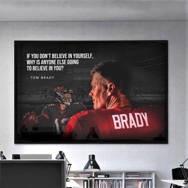 "Tom Brady ""GOAT""  Canvas Wall Art"