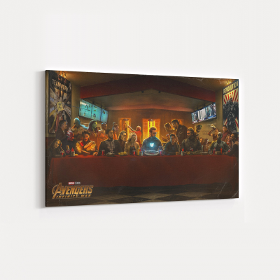 Avengers x The Last Supper Canvas Wall Art