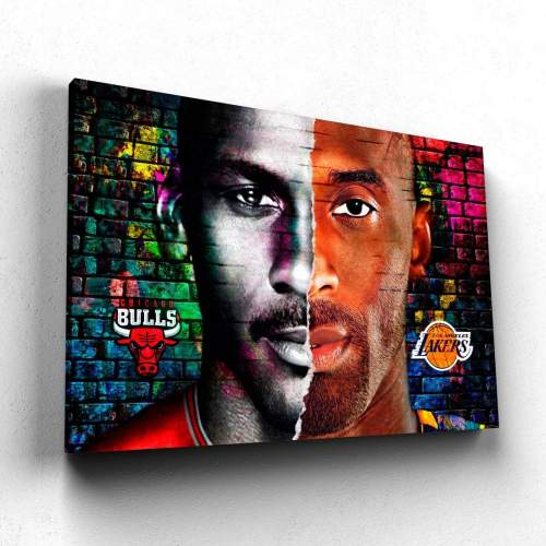 Kobe Bryant and Michael Jordan Canvas Wall Art