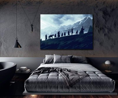 Lord of the Rings Fellowship of the Ring Canvas Wall Art