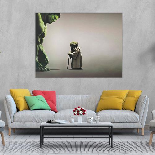 Hulk & Yoda Canvas Wall Art