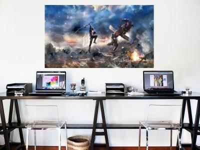Captain America Avengers Endgame Canvas Wall Art