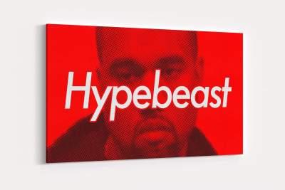 Hypebeast Kanye West Canvas Wall Art