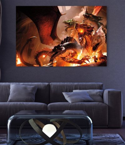 Dungeons and Dragons Canvas Wall Art