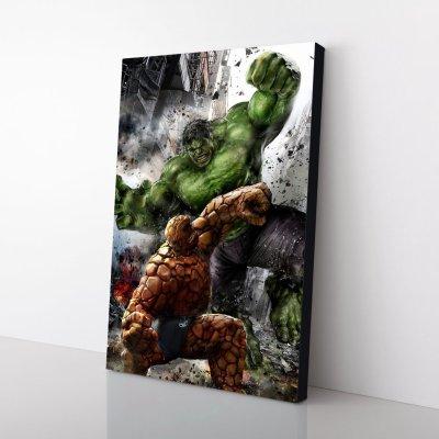 Hulk VS The Thing Canvas Wall Art
