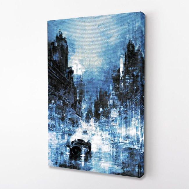 Batman Gotham City Canvas Wall Art