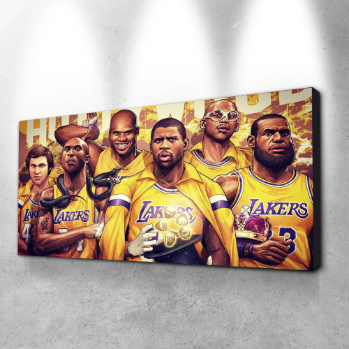 LA Lakers Famous Players Canvas Wall Art
