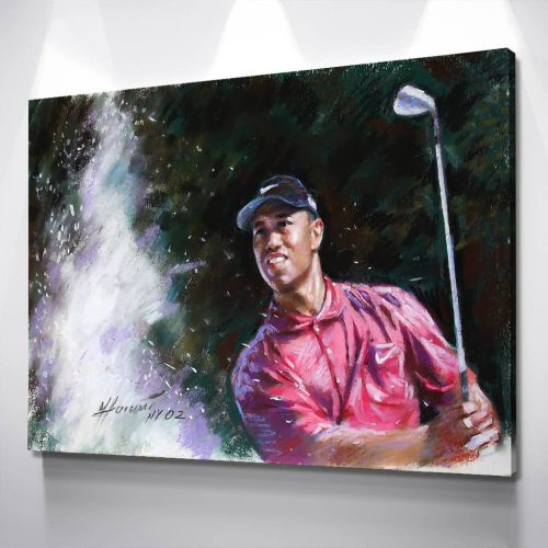 Tiger Woods Canvas Wall Art