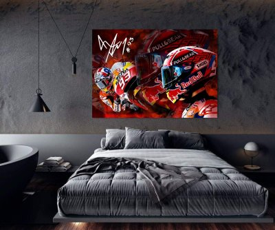 Marc Marquez MotoGP World Champion Canvas Wall Art