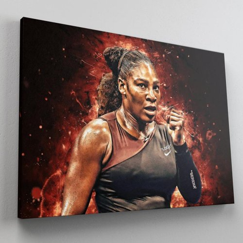 Serena Williams Canvas Wall Art