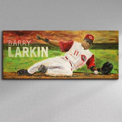 Cincinnati Reds baseball legend Barry Larkin Canvas Art