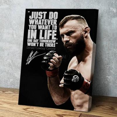 Donald Cerrone Cowboy inspirational quote photo Canvas Wall Art