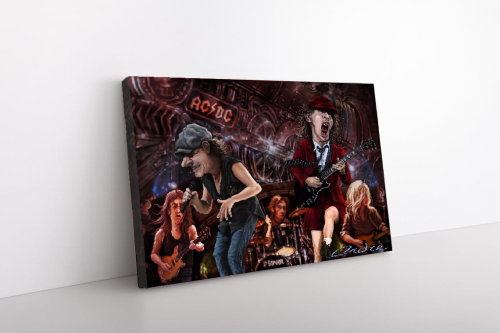 AC/DC Collection Cartoon Canvas Wall Art