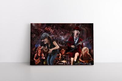 AC/DC Collection Cartoon Canvas Wall Art