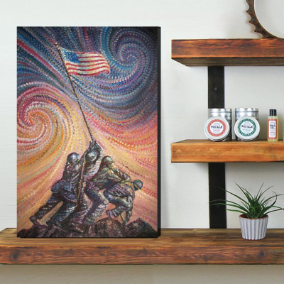 American Heroes Canvas Wall Art