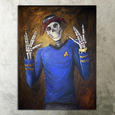 Tupac Shakur and Spock Canvas Wall Art