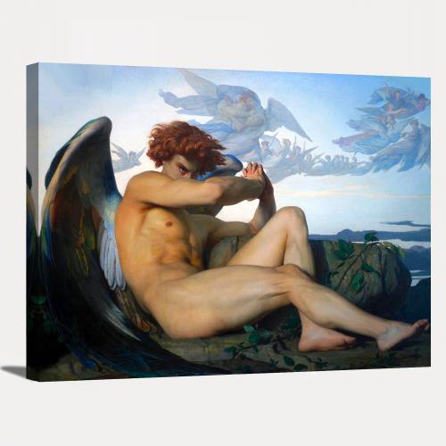 Fallen Angel 1868 by Alexandre Cabanel Classic Canvas Wall Art