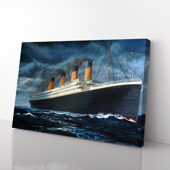 Titanic Ship Of Dreams Maritime History Disaster Old Vintage Canvas