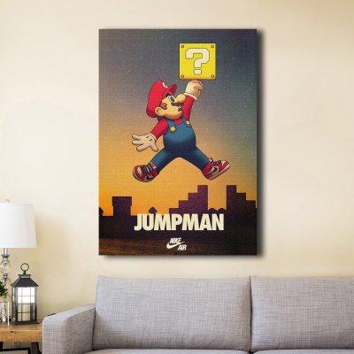 Super Air Mario Jumpman Canvas Wall Art