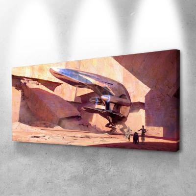 Star wars spaceship Canvas Wall Art