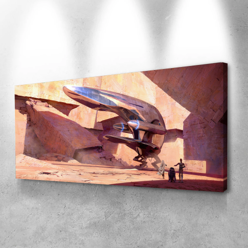 Star wars spaceship Canvas Wall Art