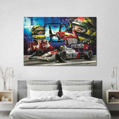 Ayrton Senna Honda Limited Edition Canvas Wall Art