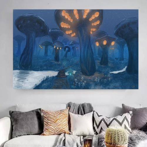 World of Warcraft zangarmarsh Print Canvas art