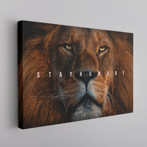 Stay Hungry Canvas Wall Art