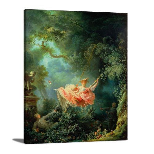 The Swing by Joean Honoré Fragonard Fine Canvas Print Wall Art