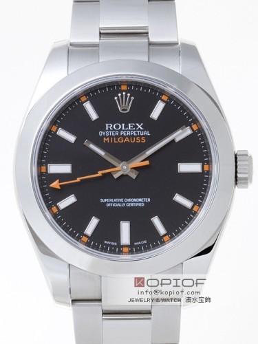 ロレックス ミルガウス スーパーコピー116400 ブラック