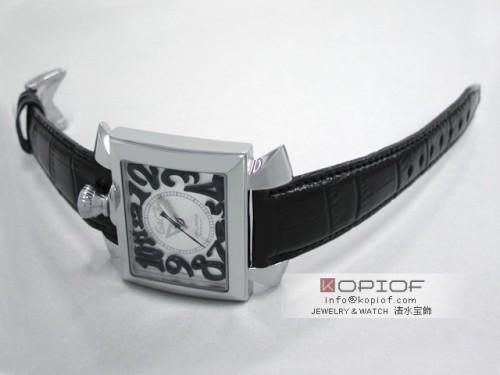 ガガミラノ ナポレオン46MM スーパーコピー自動巻き 6000.5 ブラック皮 シルバー/ブラックアラビア