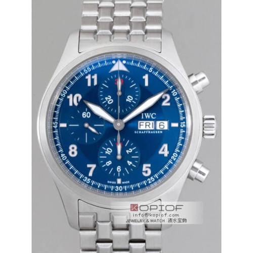 IWC パイロットウォッチ スーパーコピーIW371712 クロノ・オートマティック SS ローレウス ブレスセッティング ブルー