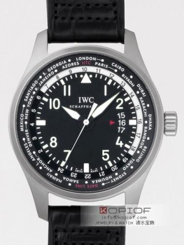 IWC パイロットウォッチ スーパーコピーIW326201 ワールドタイマー SS/皮 ブラック