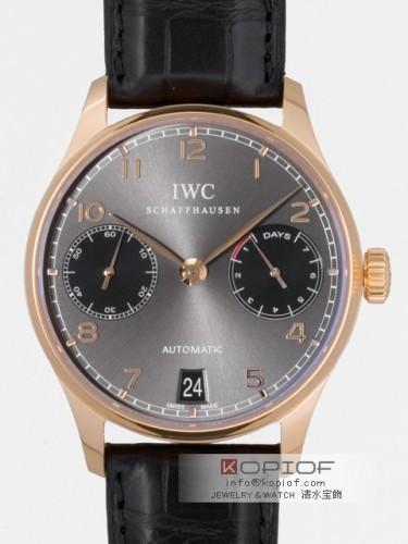 IWC ポルトギーゼ スーパーコピーIW500125 7DAYS 辰年 世界限定888本 グレー/ブラック