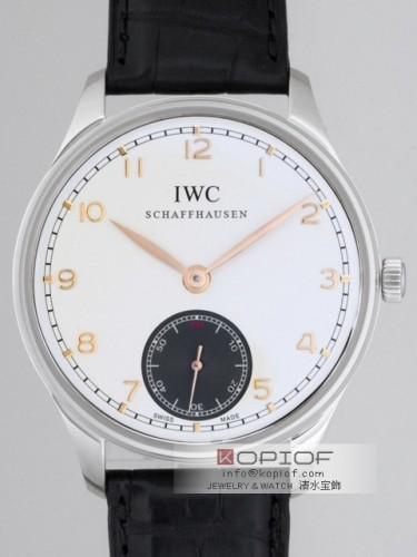 IWC ポルトギーゼ スーパーコピーIW545405 ハンドワインド シルバー/グレー
