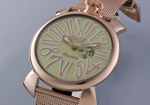 ガガミラノ スリム46MM スーパーコピーユニセックス 限定モデル 時計 5081.L.E.HO.3
