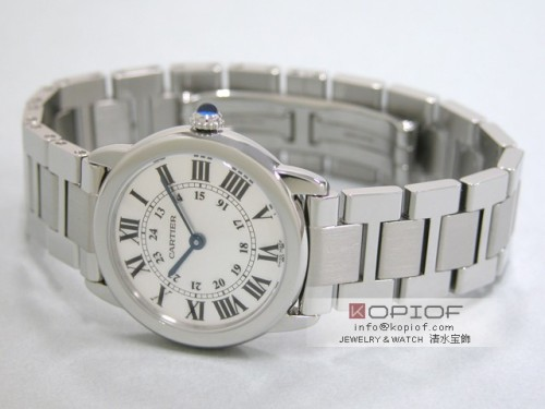 カルティエ ロンド スーパーコピーW6701004 SS SM ブレス ホワイト