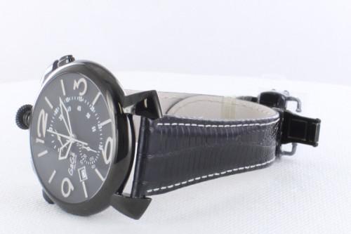 ガガミラノシンクロノ46MM スーパーコピーTHIN CHRONO ブラックPVD 時計 5099.01BK