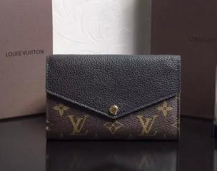 ルイヴィトン モノグラム・マカサー 財布スーパーコピーポルトフォイユ・パラス コンパクト ミディアムサイズ 折財布 M60990 黒